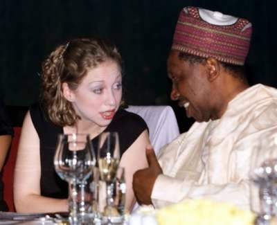 Chelsea Clinton gets drunk with an African man