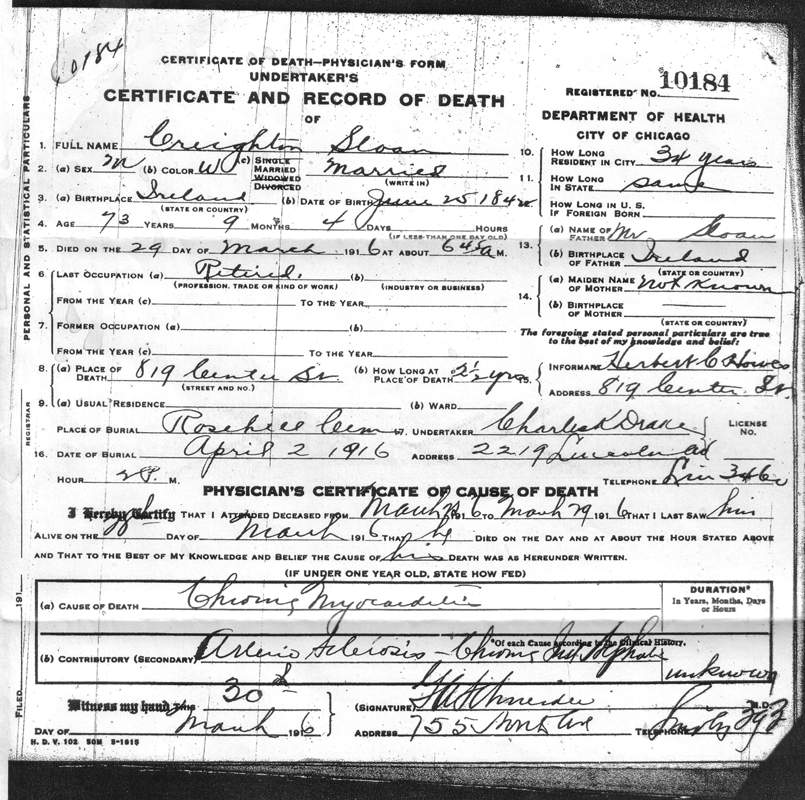 New York Divorce Records: Mystery Of My Great-grandfather, Creighton Sloan