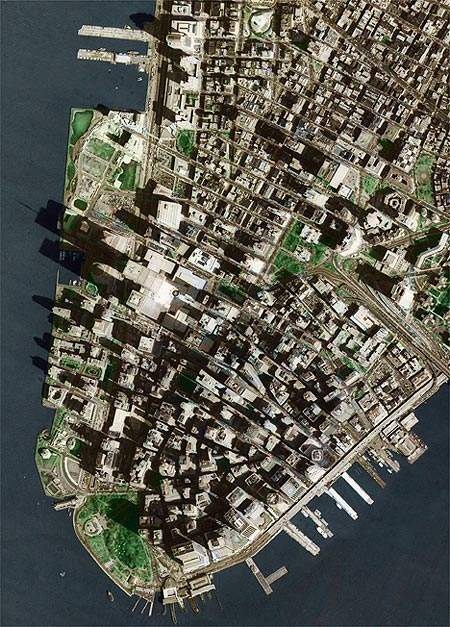 Downtown New York City photo made by Russian Spy Satellite