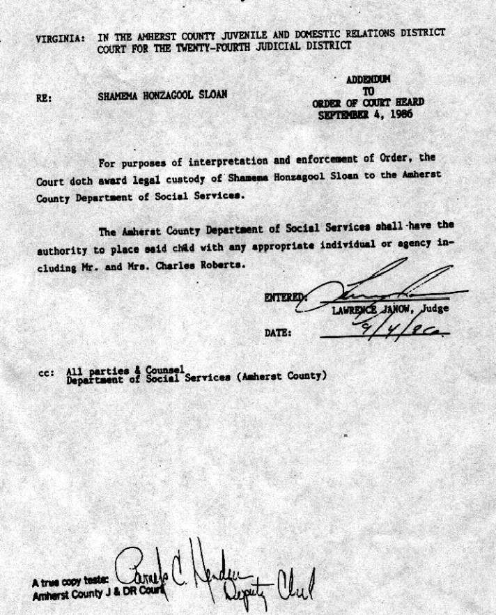 Judge Janow's Order dated 9-4-1986