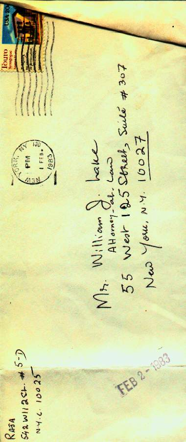 Envelope which contained the Fake Letter from Honzagool
