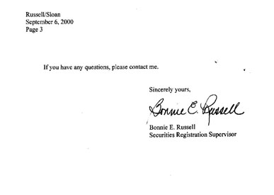 Letter from Maine Securities Division, page 2